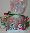 Handpainted Star Shaped Candy Dish with Snowmen & Christmas Trees